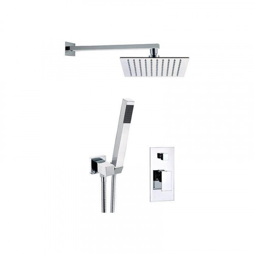 Set de duș SKYLINE (baterie 2 ieșiri+cap de duș din perete 25x25 cm)