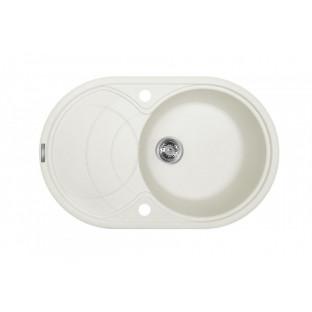 Chiuvetă ovală MONTEBELLA 780 x 500 (culoare angora + sifon)