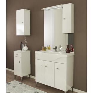 Oglinda MOON 52cm, iluminare LED, Bianco Lucido