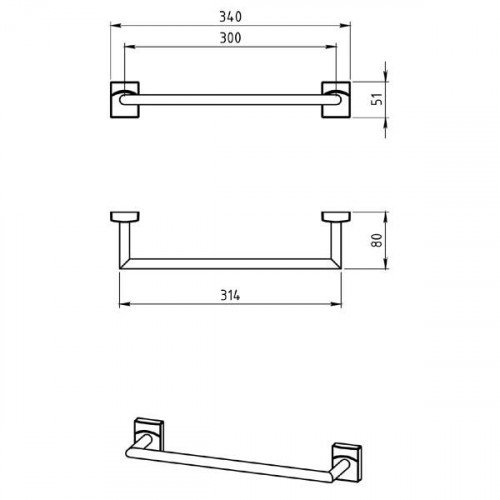 Portprosop Ferro METALIA 12 - 35 cm