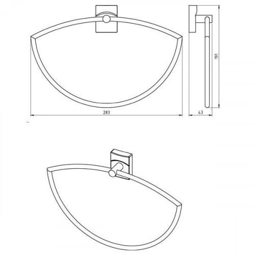Portprosop Ferro METALIA 12 asimetric, d. 23cm