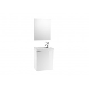 Set Mobilier de baie Mini PACK, cul. Alb ( mobilier, lavoar, oglindă)