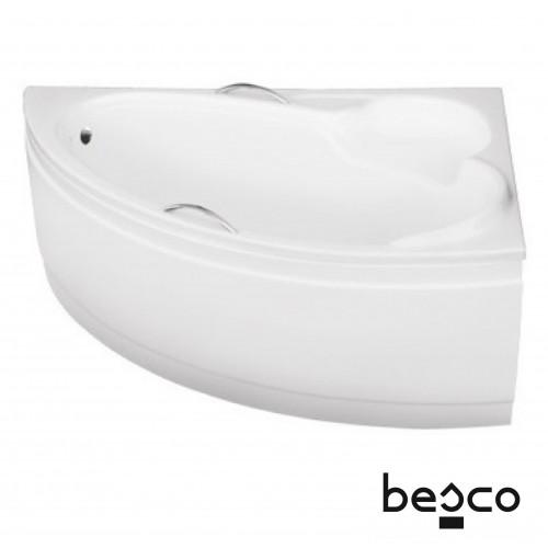 Cada Besco BIANKA 150x95 cu suport W inclus, Dreapta