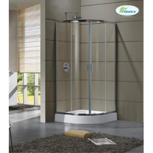 Cabină de duș semirotundă FIBREX CLEO 90 x 90 x 185 cm