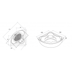 Cada FIBREX VENUS 150x150 cm