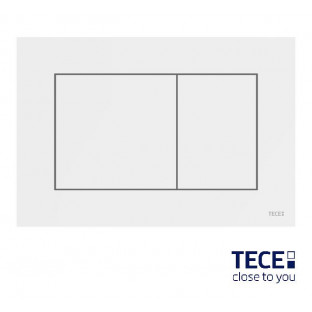 Clapetă albă cuacționare dublă TECEnow pentru WC