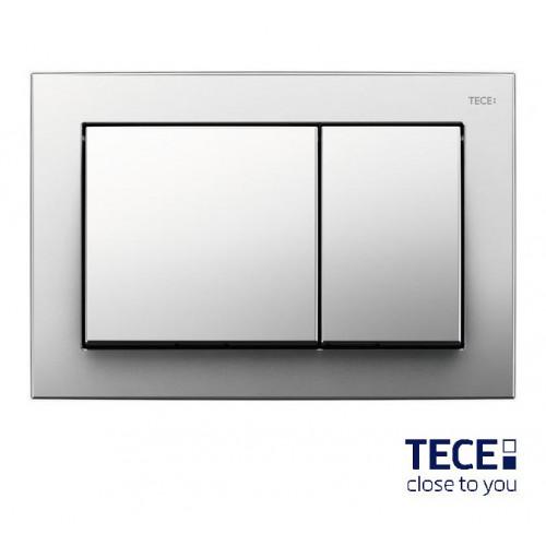 Clapetă cromat lucioasă cu acționare dublă TECEBase pentru WC