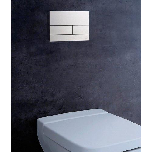 Clapetă cu dublă acționare TECESquare II pentru WC, oțel inoxidabil finisaj periat