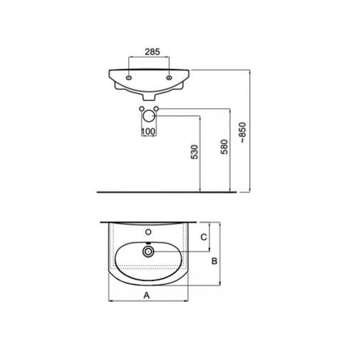 Lavoar Zoom Neo 55 x 44 cm
