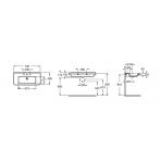 Lavoar suspendat  ROCA DAMA-N 700x460 cm