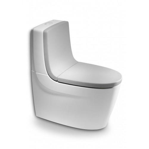Capac WC cu închidere amortizată, pentru closet, gri, ROCA KHROMA