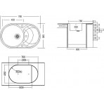 Chiuvetă Montebella ELG 780 x 500 mm