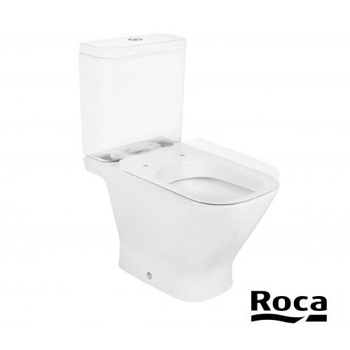 WC din porţelan, cu racord scurt și evacuare orizontală ROCA The Gap