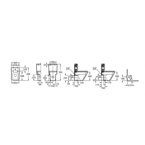 Vas WC HALL duobloc cu evacuare dubla+sistem